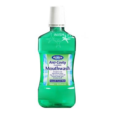 Beauty Formulas Active Oral Care Anti-Cavity Fluoride Mouthwash Smooth Fresh Mint 500ml