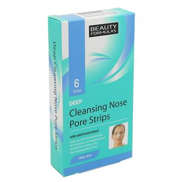 Beauty Formulas Clear Skin Deep Cleansing Nose Pore strips 6 Pack