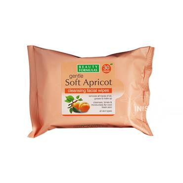 Beauty Formulas Gentle Soft Apricot Cleansing Facial Wipes 30 Pack