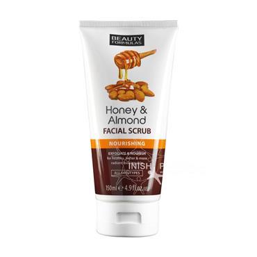 Beauty Formulas Honey & Almond Facial Scrub Nourishing 150ml