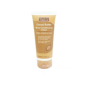 Beauty Formulas Cocoa Butter Body Conditioning Cream Softens Smooths & Tones 100ml