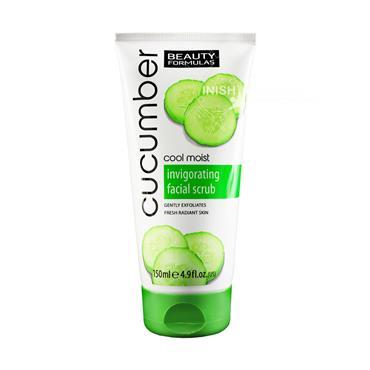 Beauty Formulas Cool Moist Cucumber Invigorating Facial Scrub 150ml