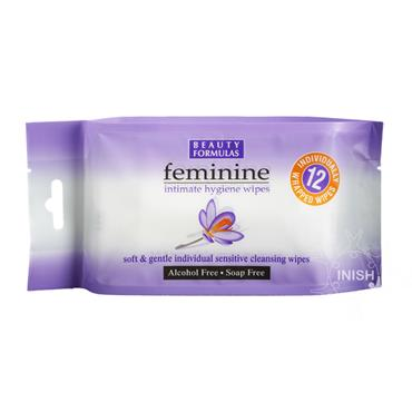 Beauty Formulas Feminine Intimate Hygiene Wipes Individually Wrapped 12 Pack