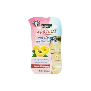 Beauty Formulas Apricot Deep Cleansing Self Heating Mask Calming & Invigorating 15ml