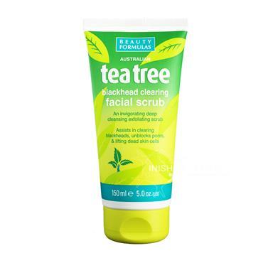 Beauty Formulas Australian Tea Tree Blackhead Clearing Facial Scrub 150ml