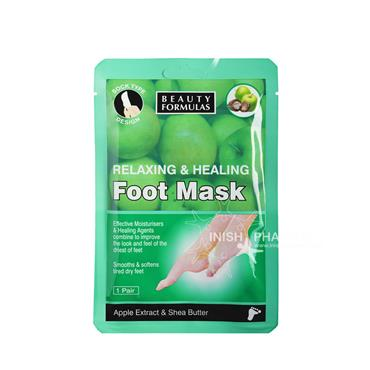 Beauty Formulas Relaxing & Healing Foot Mask Apple Extract & Shea Butter