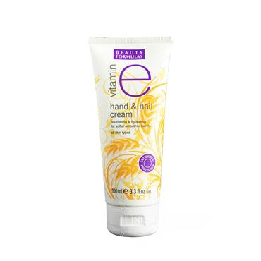 Beauty Formulas Vitamin E Hand & Nail Cream For All Skin Types 100ml