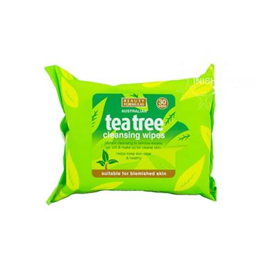 Beauty Formulas Australian Tea Tree Cleansing Wipes 30 Pack