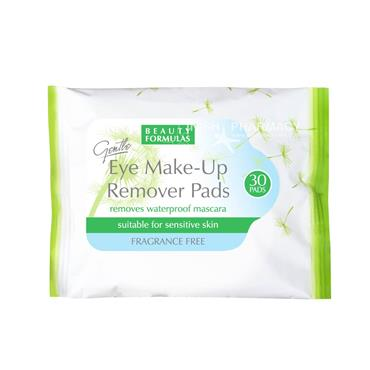 Beauty Formulas Eye Make-Up Remover Pads 30 Pack