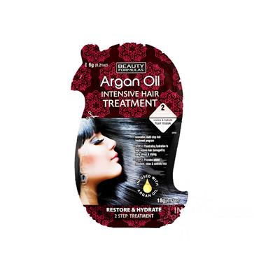 Beauty Formulas Argan Oil Intensive Hair Treatment Restore & Hydrate 1 Sachet