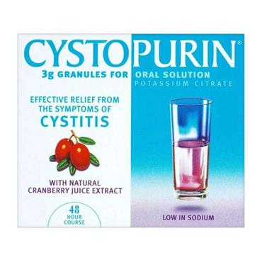 Cystopurin Potassium Citrate Cranberry Sachets 6 Pack