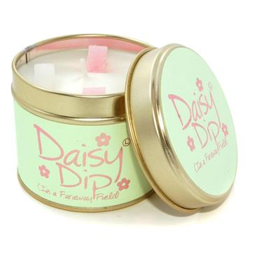 Lily Flame Candle In A Tin Daisy Dip