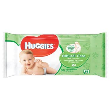 Huggies Baby Wipes Natural Care 56 Pack