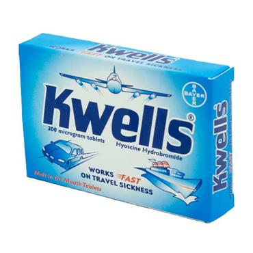 Kwells Hyoscine Travel Sickness Tablets 12 Pack