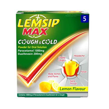Lemsip Max Cough & Cold Sachets 5 Pack