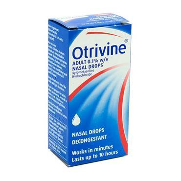 Otrivine Adult Nasal Drops 0.1% Xylometazoline 10ml