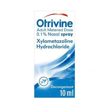 Otrivine Adult Decongestant Nasal Spray 0.1% Xylometazoline 10ml