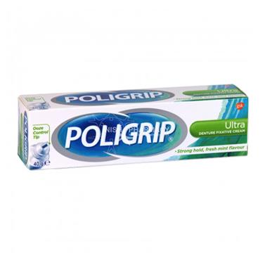 Poligrip Ultra Denture Fixative Cream Fresh Mint 40g