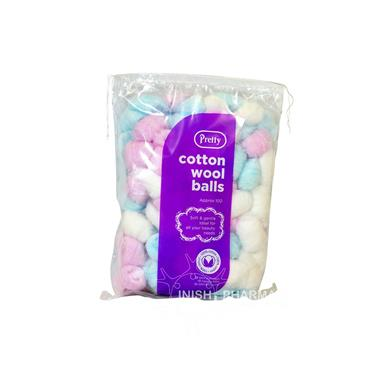 Pretty Cotton Wool Balls 100 Pack