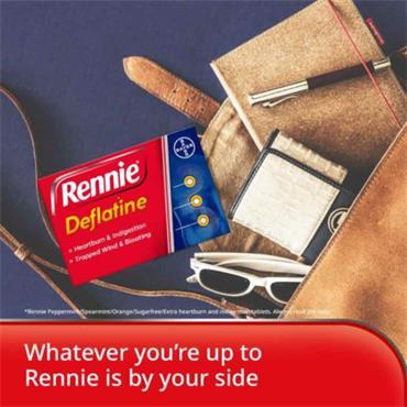 Rennie Deflatine Chewable Sugar Free Mint Tablets 18 Pack
