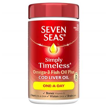 Seven Seas Cod Liver Oil One-a-Day 30 Capsules