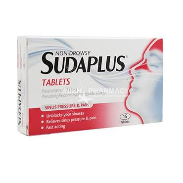 Sudaplus 500mg/30mg Tablets 15 Pack