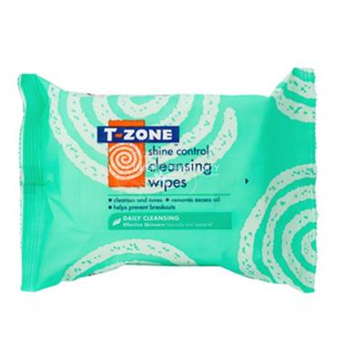 T-zone Shine Control Cleansing Wipes 25 Pack