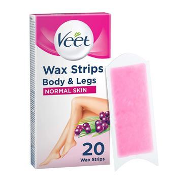 Veet Wax Strips For Normal Skin 20 Pack
