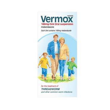 Vermox Mebendazole Oral Suspension 30ml