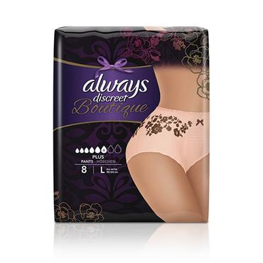 Always Discreet Boutique Pants Plus Large 8 Pack