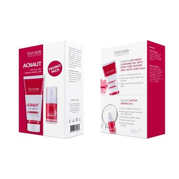 Biotrade Acnaut 2 Piece Set - Oxy Wash Cleansing Gel & Active Cream