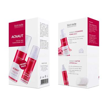 Biotrade Acnaut 2 Piece Set - Cleansing Face Foam & Active Lotion