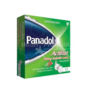 Panadol Actifast 500mg Soluble Tablets 12 Pack