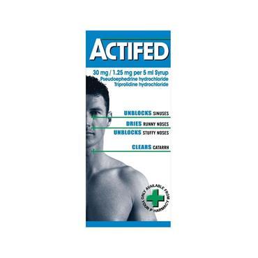 Actifed  30mg/1.25mg/5ml Syrup 100ml