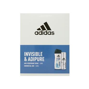 Adidas Invisible & Adipure 150ml 2 Piece Giftset