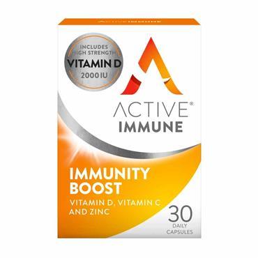 Active Immune Vitamin C D & Zinc Immunity Boost 30 Pack