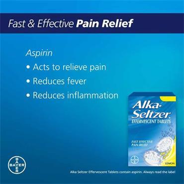 Alka-Seltzer Effervescent Tablets Lemon Flavour 20 Pack
