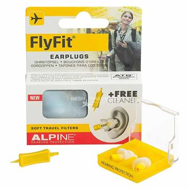 Alpine FlyFit Earplugs Soft Travel Filters & Free Cleaner