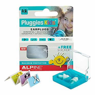 Alpine Pluggies Kids Earplugs Maximum Protection & Free Stickers