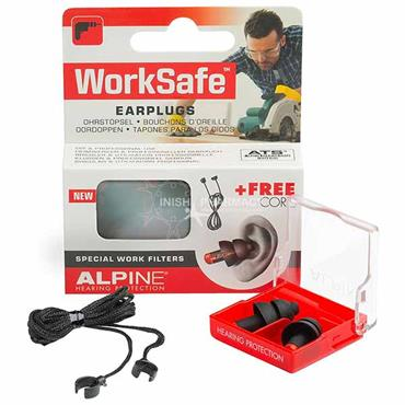 Alpine WorkSafe Earplugs Special Work Filters & Free Cord