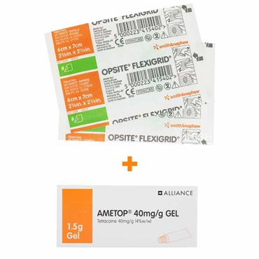 Ametop 40mg/g Tetracaine Gel With 2 Opsite Dressings