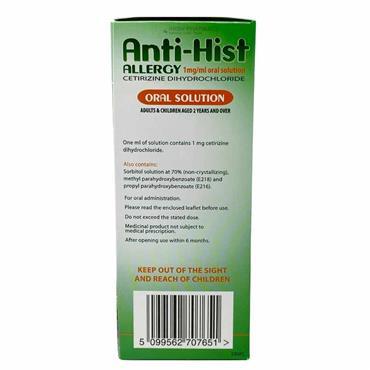 Anti-Hist Allergy Cetirizine Oral Solution 200ml