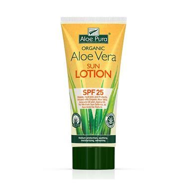 Aloe Pura Organic Aloe Vera Sun Lotion SPF 25 200ml