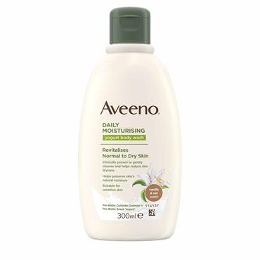 Aveeno Daily Moisturising Yogurt Body Wash Vanilla & Oats 300ml