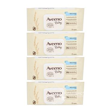 Aveeno Baby Daily Care Baby Wipes 72 x 4 Pack