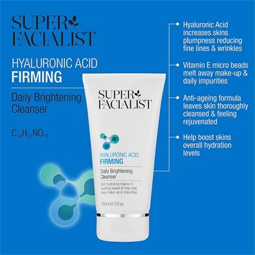 Super Facialist Hyaluronic Firming Daily Brightening Cleanser 150ml