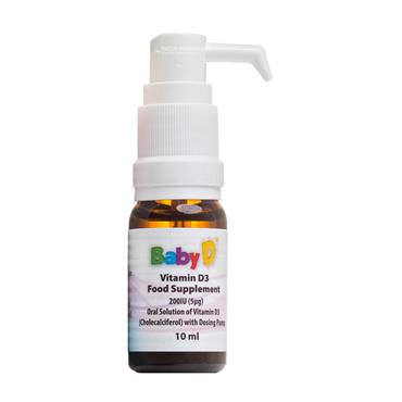 BabyD Vitamin D3 Pump 200iu 10ml