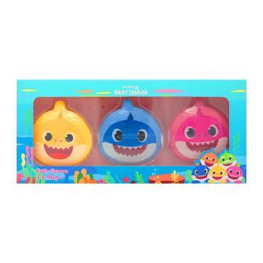 Baby Shark 90g Bath Fizzer Trio Giftset