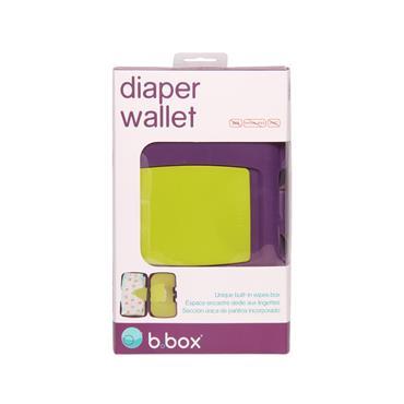 b.box Diaper Wallet - Splish Splash (Purple/Green)