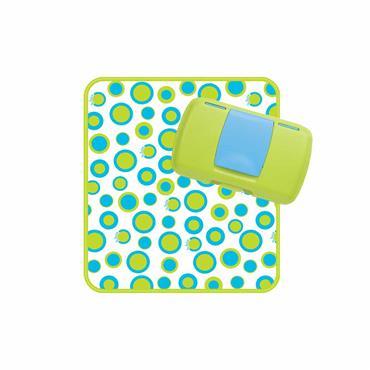 b.box Diaper Wallet - Retro Circles (Green/Blue)